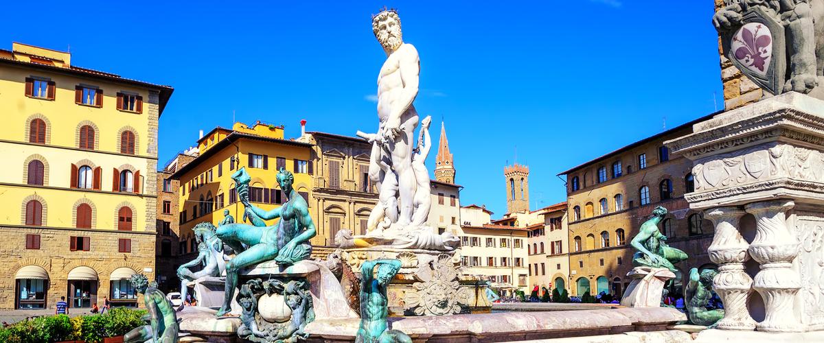 Florencia - Fuente Neptuno - Italia